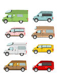 Cartoon camper van Royalty Free Stock Photo