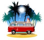Cartoon Camper Royalty Free Stock Image