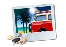 Cartoon Camper Royalty Free Stock Images
