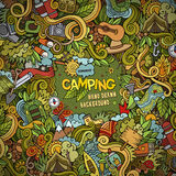 Cartoon Camping frame background Royalty Free Stock Photo
