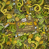 Cartoon Camping frame background Stock Images