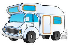 Cartoon camping van Royalty Free Stock Photography