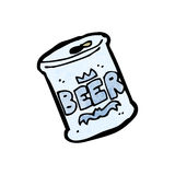 cartoon can of beer Stock Photo
