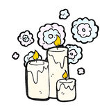 Cartoon candle Stock Images