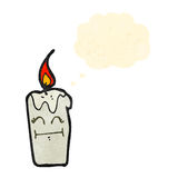Cartoon candle with face Royalty Free Stock Photography