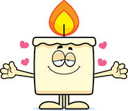 Cartoon Candle Hug Royalty Free Stock Photo