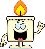 Cartoon Candle Idea. A cartoon illustration of a candle with an idea Royalty Free Stock Images