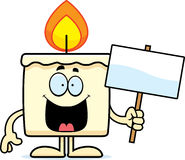 Cartoon Candle Sign Royalty Free Stock Photos