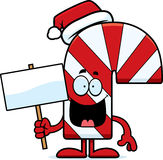 Cartoon Candy Cane Sign Stock Image