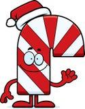 Cartoon Candy Cane Waving Stock Image