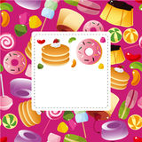 Cartoon candy card Royalty Free Stock Photography