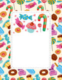 Cartoon candy card Royalty Free Stock Images