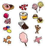 Cartoon candy icon royalty free illustration
