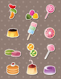 Cartoon candy stickers vector illustration