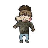 cartoon cannibal man Stock Images