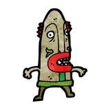 Cartoon cannibal shaman Stock Photography