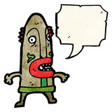 cartoon cannibal tribesman Stock Images