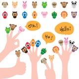 Cartoon cap finger cute set Royalty Free Stock Image