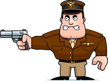 Cartoon Captain Gun Stock Photo