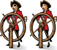 Cartoon Captain Pirate. Part of a series. Stock Images