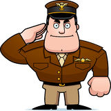 Cartoon Captain Salute Royalty Free Stock Photography
