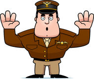 Cartoon Captain Surrender Royalty Free Stock Images