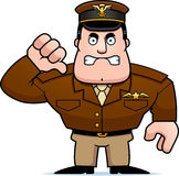 Cartoon Captain Thumbs Down Stock Photography
