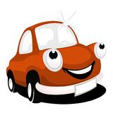 Cartoon car. Happiness cartoon car with shine Royalty Free Stock Images