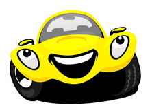 Cartoon car. The cartoon car with smile Royalty Free Stock Photo