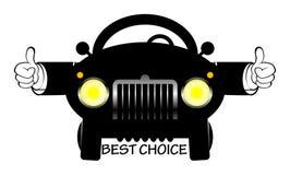 Cartoon car. With words best choice,  illustration Stock Photo