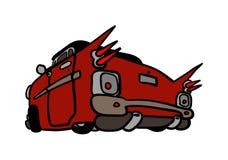 Cartoon Car. Back view of a cartoon car Stock Photo