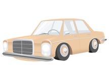 Cartoon car. Illustration of a retro cartoon car Stock Image