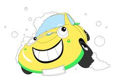 Cartoon car Royalty Free Stock Photography