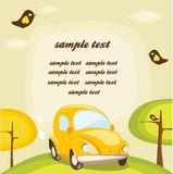 Cartoon car background with place for your text Stock Image