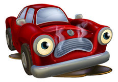 Cartoon car broken down Stock Images