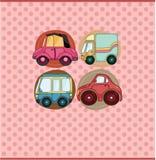 Cartoon car card Royalty Free Stock Images