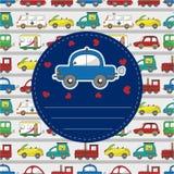 Cartoon car card Stock Photos