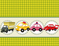 Cartoon car card Royalty Free Stock Photo