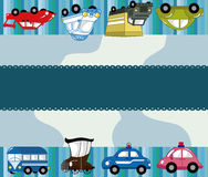 Cartoon car card Royalty Free Stock Photos