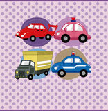 Cartoon car card Stock Image