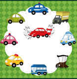 Cartoon car card Stock Photos