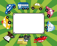 Cartoon car card Stock Photo