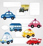 Cartoon car card Royalty Free Stock Image