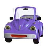 Cartoon car. 3d illustration isolated on the white background Stock Image