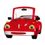 Cartoon car. 3d illustration isolated on the white background Stock Photos