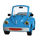 Cartoon car. 3d illustration isolated on the white background Royalty Free Stock Photography