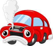 Cartoon The car damage so that smoky Stock Photos