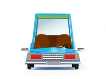 Cartoon 1970 car front. Cartoon 1970 car in hipster styles on white background Stock Photo