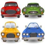 Cartoon car front. Vector illustration of a cartoon car front view royalty free illustration