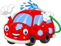 Cartoon car giving thumb up Royalty Free Stock Images